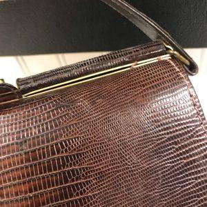 Handbags - 1950's ALLIGATOR PURSE